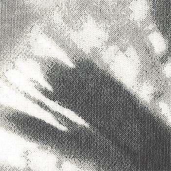Vevet grå m batikk print