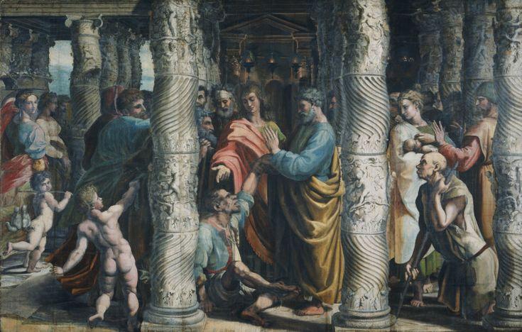 Raffaello, guarigione dello storpio - Raffaello Sanzio - Wikimedia Commons