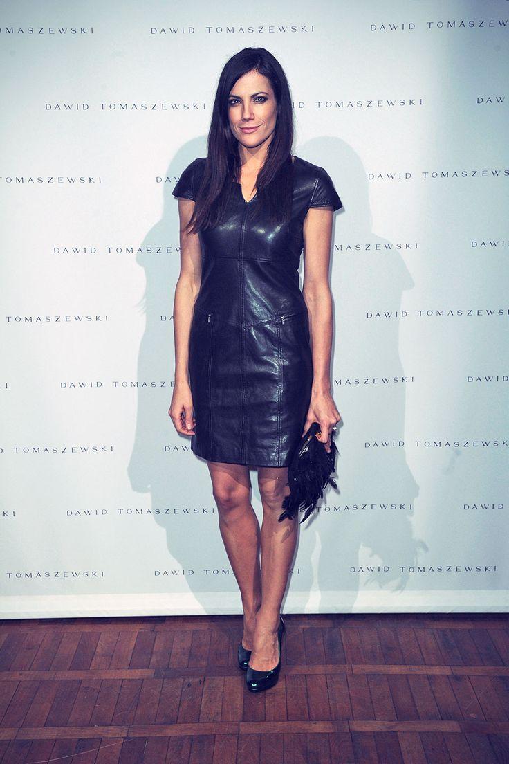 Bettina Zimmermann attends Mercedes Benz Fashion Week spring/summer 2012