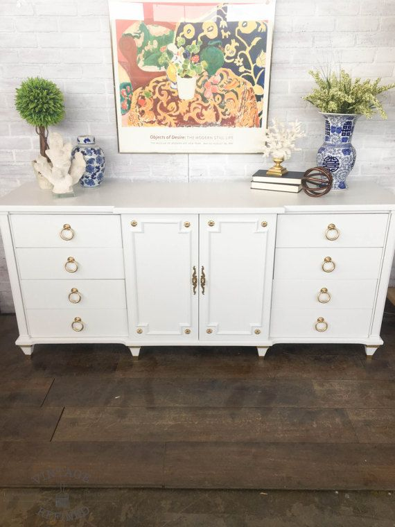available white painted dresser by on etsy