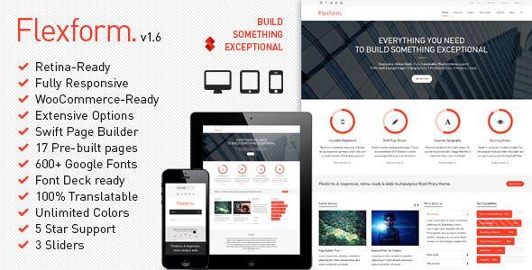 Flexform - Retina Responsive Multi-Purpose Theme #wordpress #ecommerce