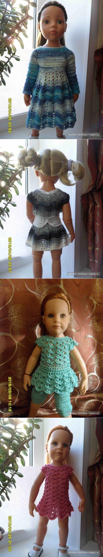 Сборная солянка. Идеи вязания одежды для кукол / Мастер-классы, творческая мастерская: уроки, схемы, выкройки кукол, своими руками / Бэйбики. Куклы фото. Одежда для кукол