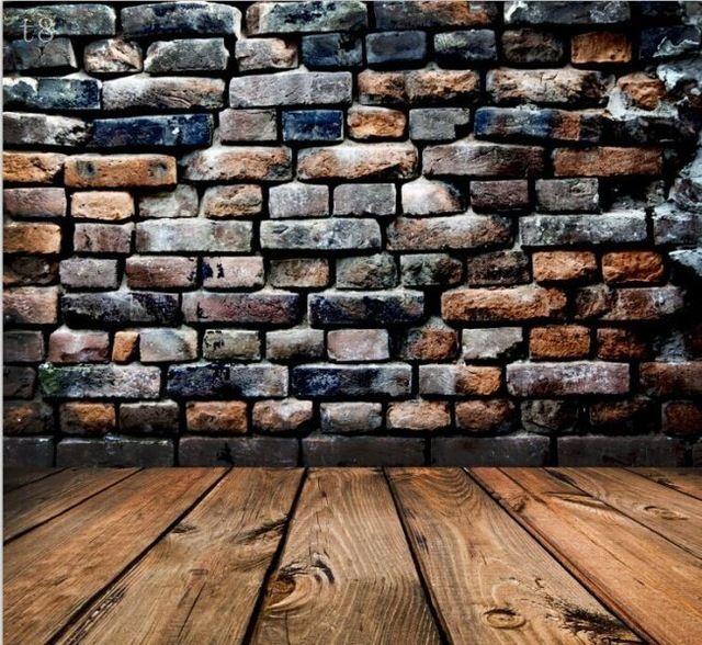 220 см * 150 см новое поступление винил фотографии фон старинные кирпичные стены деревянный пол фото фотостудия фон T8