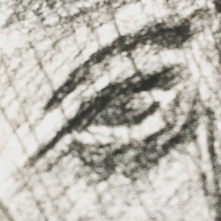 Charcoal drawing #selfie #myeye