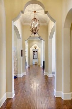 Beautiful lit hallway