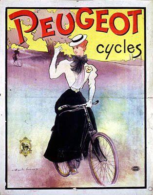Publicité Peugeot, Charle Lucas, 1897