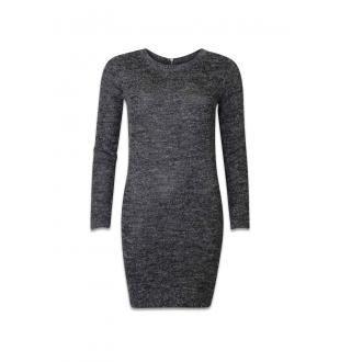 Grijze jurk ONLNEW HAYLEY LS ZIP