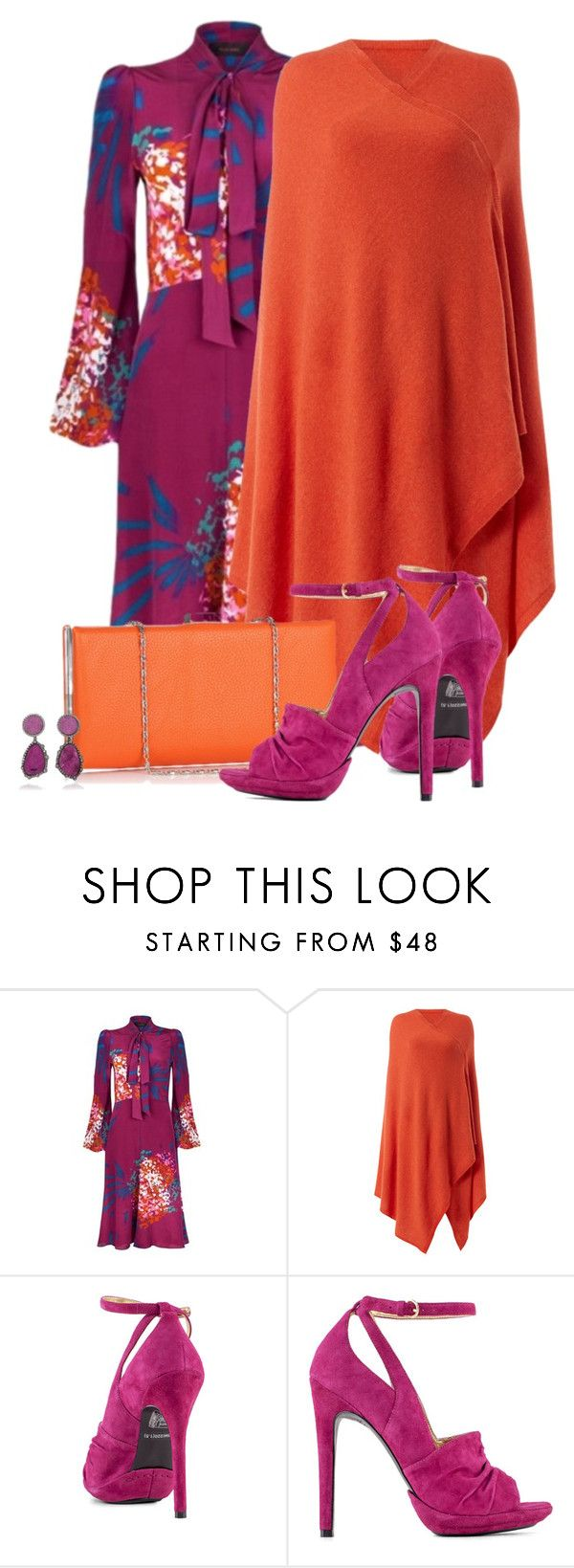 """Casual outfit: Purple - Orange"" by downtownblues ❤ liked on Polyvore featuring Ellie Lines, Nine West and Kimberly McDonald"