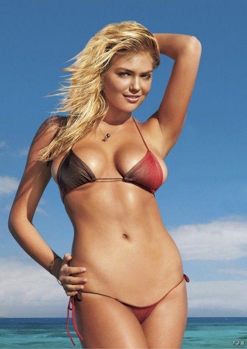 Kate Upton Big Breasts Size with Bikini Photo