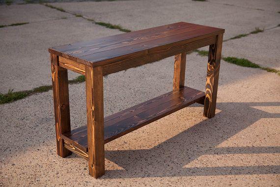 Farmhouse Sofa Table | Solid Wood Sofa Table | Entryway Table | Buffet Table | Rustic Sofa Table