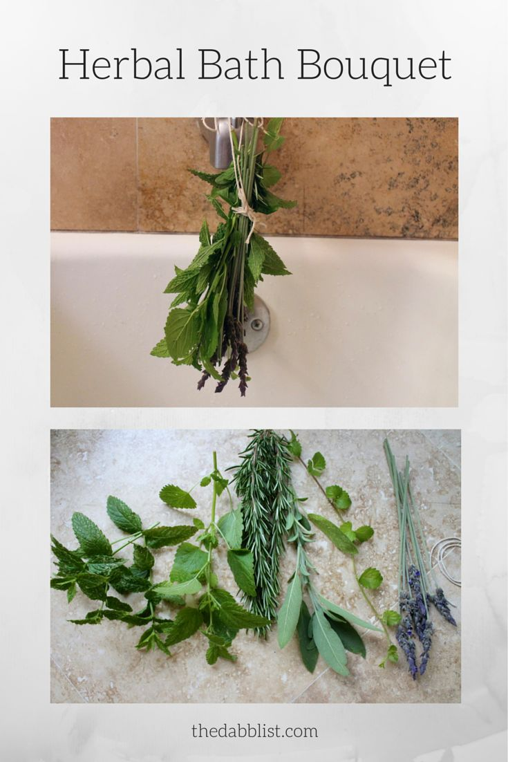 Make bath time dreamier by adding in an herbal bath bouquet. It's like you're bathing in a big cup of herbal tea, making your body very, very happy.