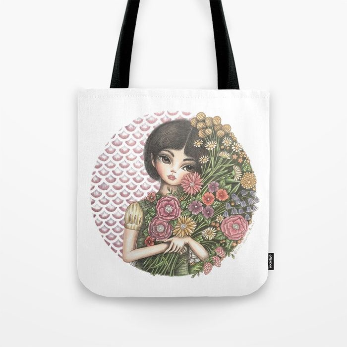 Buy Flora Tote Bag by mookoodesign. Worldwide shipping available at Society6.com. Just one of millions of high quality products available.