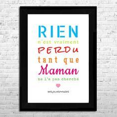 Affiche a4 : citation sur les mamans (couleur)