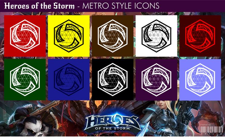 Heroes of the Storm - Metro Style Icons by xmilek.deviantart.com on @deviantART