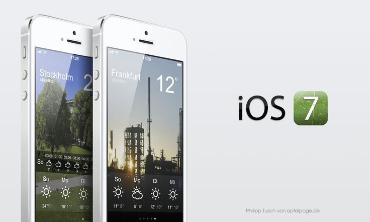 wetter ios7 iOS 7: Apfelpage Konzept mit neuem Lockscreen und App Redesigns [Video + Bilder]