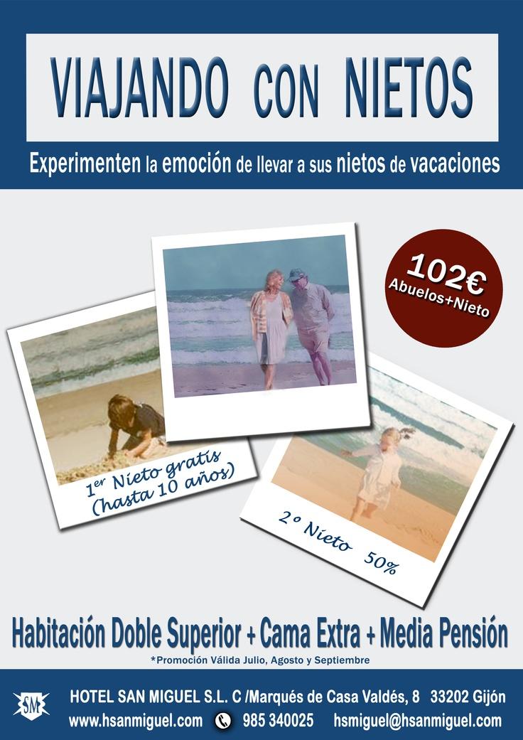 Hotel San Miguel #promociones de #verano #abuelos #nietos #vacaciones #gijon #playa #asturias