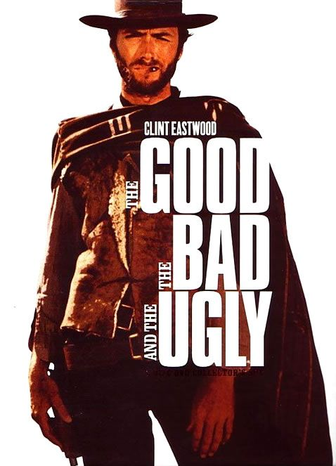 The Good, the Bad and the UglyFilm, Movie Posters, Ugly, Classic Movie, Westerns Movie, Bad, Clinteastwood, Favorite Movie, Clint Eastwood