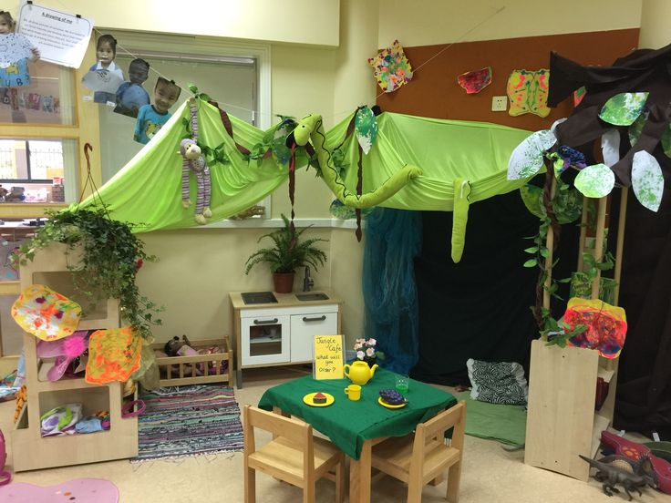 Jungle cafe role play area | Role play area | Cafe role ...