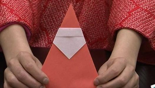 origami facile pere noel (video)
