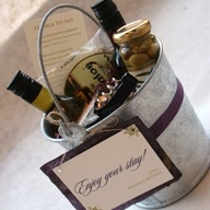 Importance of the welcome bag or gift basket for out-of-town guests