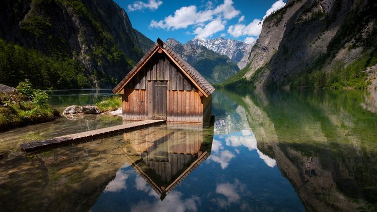 take me here now... pleaseTiny House, Lakes House, Dreams House, Beautiful Landscapes, Wooden House, Mountain Cabin, Places, Bavaria Germany, Landscapes Photography