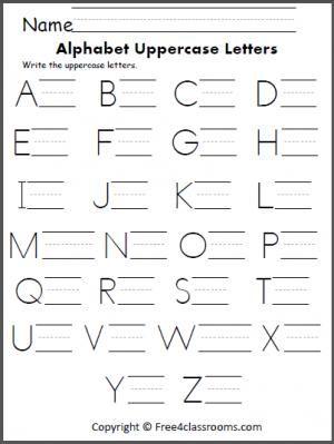free alphabet uppercase letter practice handwriting alphabet alphabet worksheets alphabet. Black Bedroom Furniture Sets. Home Design Ideas