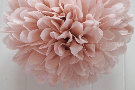 Dusty Pink Tissue Paper Pom .. Wedding Decoration / Birthday / Baby Shower / Anniversary / Kid's Party