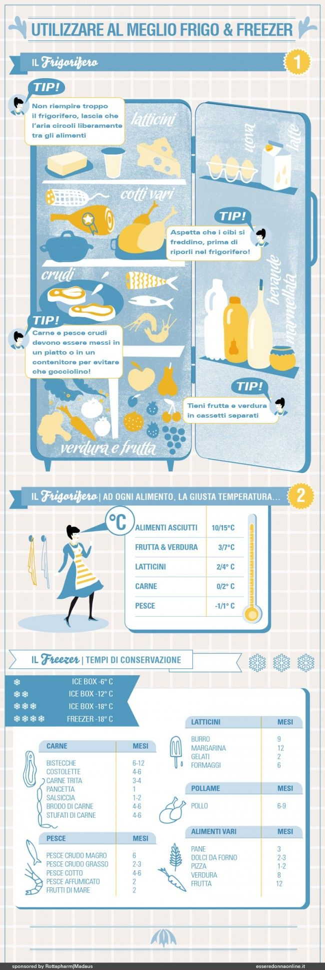 Utilizzare al meglio frigo & freezer - Silvia Gherra per Esseredonnaonline