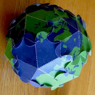 Planetpals Craft Page: Make Printable Earth Ornament for Earthday or Any Day. Love Earth!