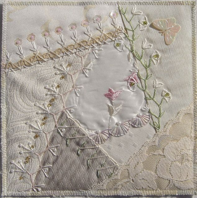 I ❤ crazy quilting & embroidery . . . Fabric bookpage for Birgit ~By Ati…