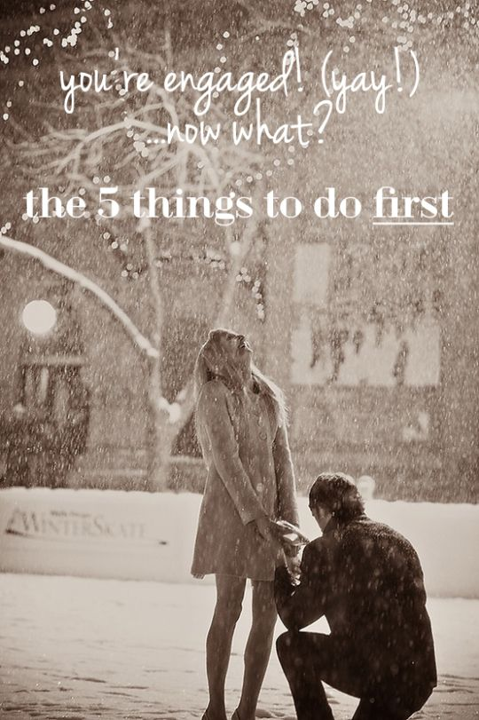 The 5 Things To Do First When You Get Engaged - Oh Lovely Day