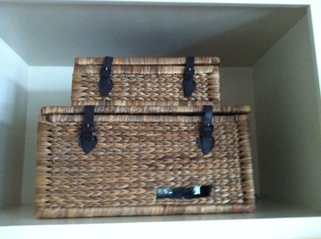 Hid my cable box in a basket.
