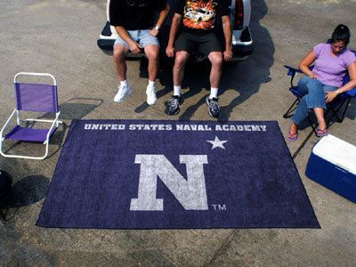 US Navy Naval Academy Tailgate Party Rug 5' X 8' Tailgating Gift USA Made