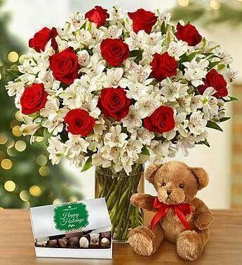 Red e White roses