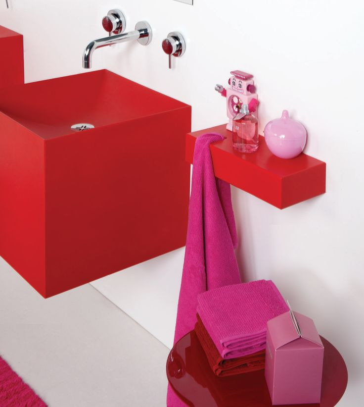 Building bloc sink design.  Unique and inspired bathroom design from Boing By Hafele  #Bathtime #Baths #Washroom #Luxury #Fun #creative