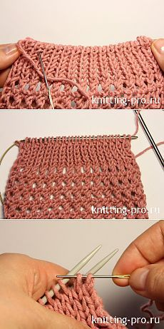 Закрытие петель с помощью иглы трикотажным швом - Электронный журнал по вязанию на спицах