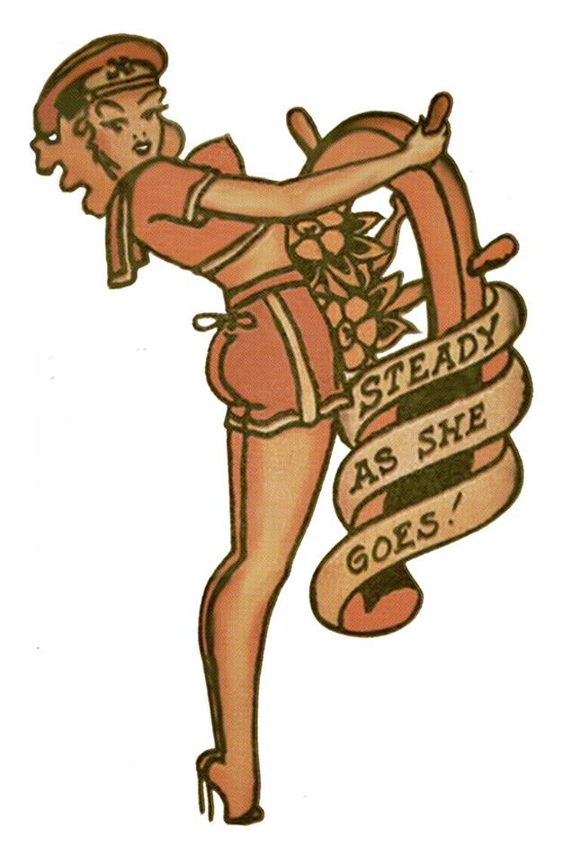 Stready As She Goes, Sailor Jerry,Tattoo Flash | Vulture Graffix, Mail Order T…