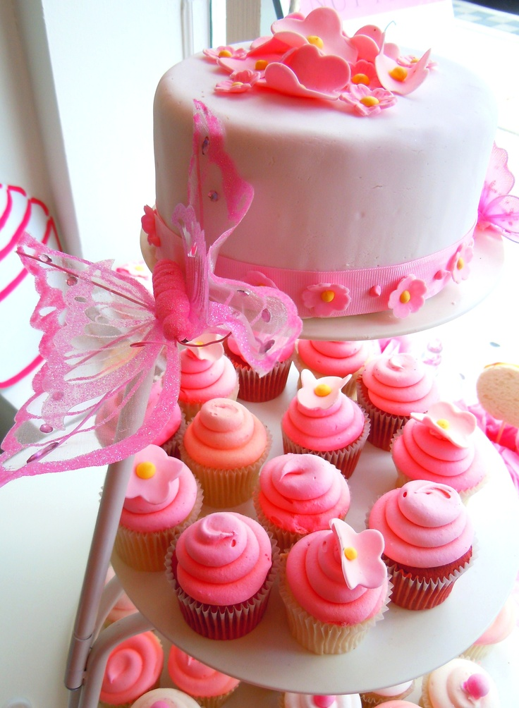 Pretty in pink and fairy sweet!  Pink frosted cupcakes at Bakes & Goods by Yonge & Eglinton in Toronto.