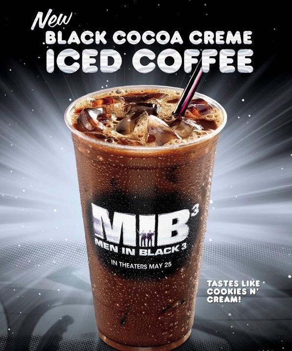 Black Cocoa Creme Iced Coffee = tastes like cookies 'n