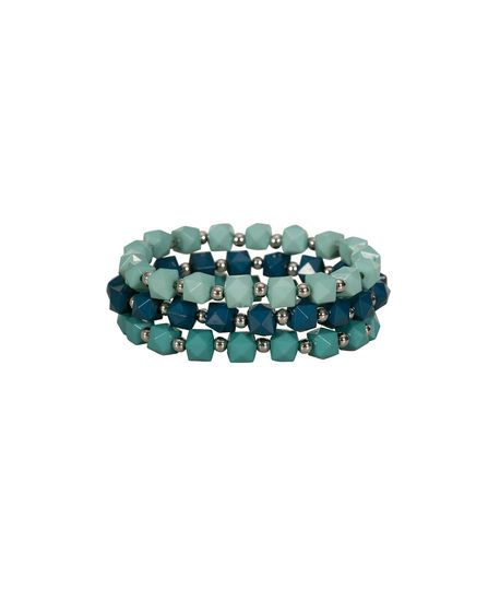 Three tone teal bracelet. Available at Ricki's. #smspringbling