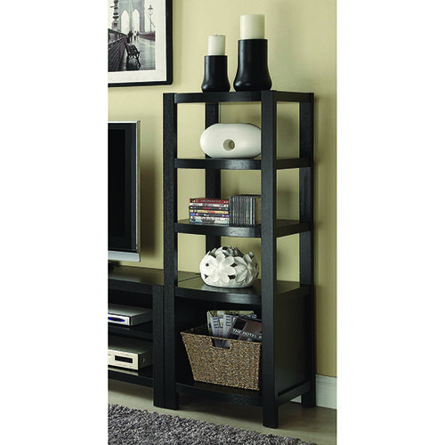 Coaster Furniture 800355 4-Tier Curved Front Media Tower Cappuccino Brown Contemporary and Modern   Bellacor   – Products