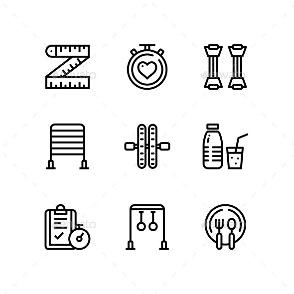 #Workout, Fitness, Gym Icons for Web and Mobile Design Pack 5 – #Icons