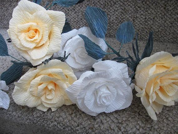Wedding Table decorations Paper flowers crepe by moniaflowers