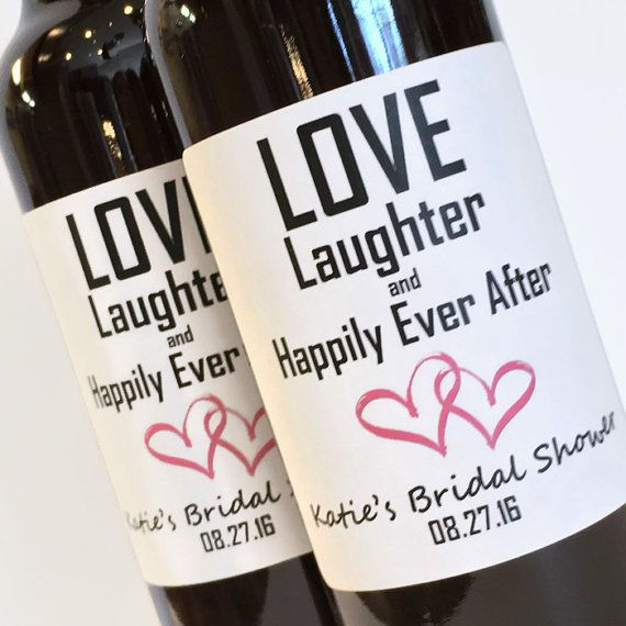 Bridal Shower Favor or Wedding Favor  Mini Wine or by ZoeDeZigns