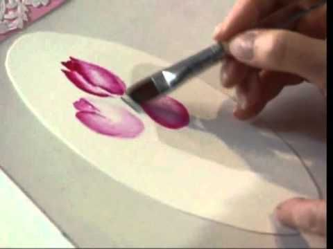 Tulips and Doilies using Watercolors by Susan Scheewe video by ArtistSupplySource.com - YouTube