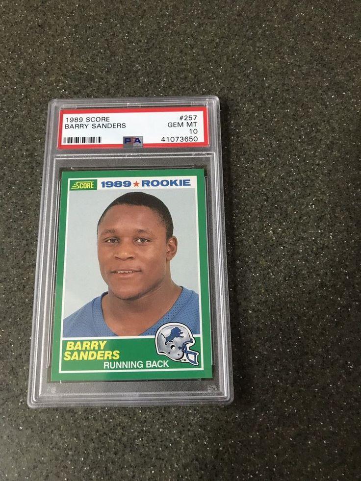 1989 score 257 barry sanders rc rookie hof psa 10 gem