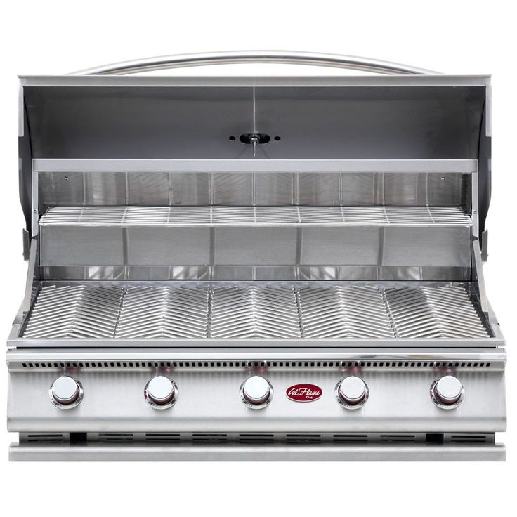 Cal Flame Gourmet Series Built-In 5-Burner Gas BBQ Grill (G5 5-Burner LP Gas Grill), Silver (Stainless Steel)