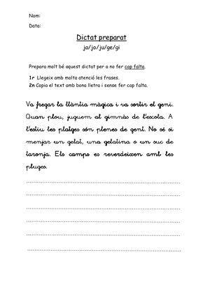 Dictats preparats català 2n