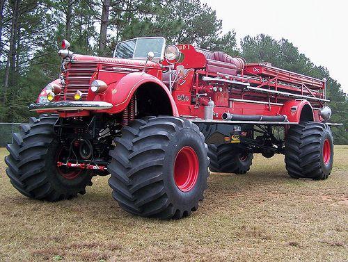 A firetruck monster truck