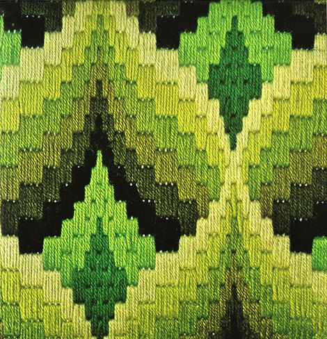 traditional bargello flame stitch...bargello is so much fun to do